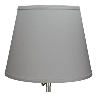 13 Linen Empire Lamp Shade Color: Iron