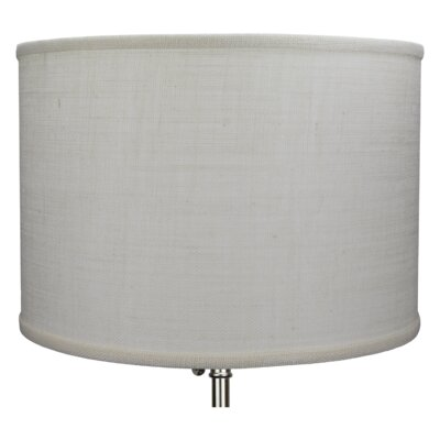 16 Burlap Drum Lamp Shade Color: Off White