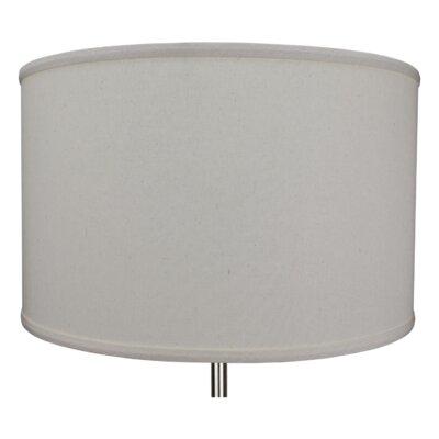 18 Linen Drum Lamp Shade Color: Beige