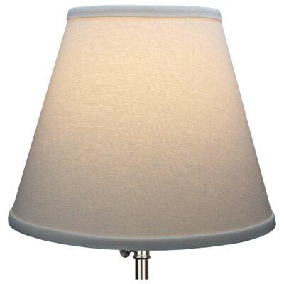 11 Linen Empire Lamp Shade Color: Cream