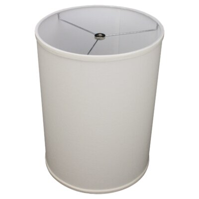 11 Linen Drum Lamp Shade Color: Off White