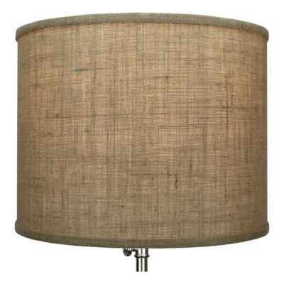 14 Burlap Drum Lamp shade Color: Natural