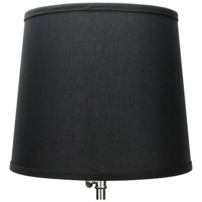 13 Linen Empire Lamp Shade Color: Black