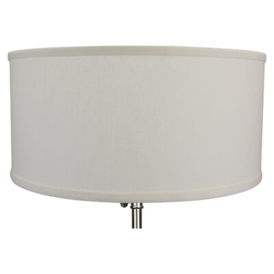 17 Linen Drum Lamp Shade Color: Cream