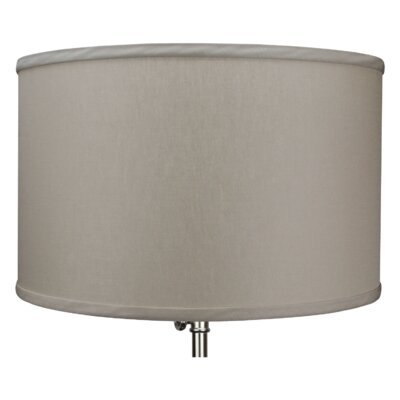 16 Linen Drum Lamp Shade Color: Stone