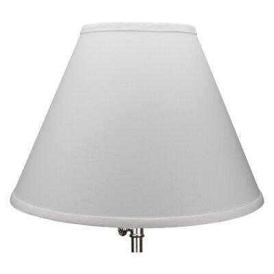 15 Linen Empire Lamp Shade Color: White