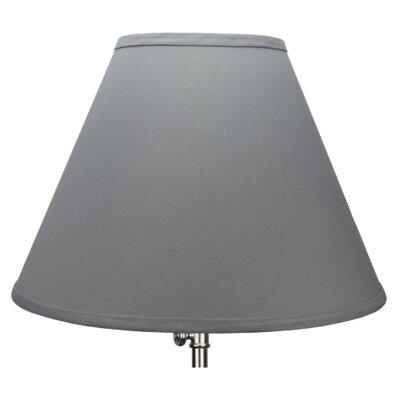 15 Linen Empire Lamp Shade Color: Iron