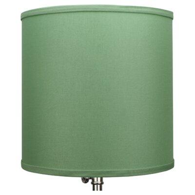 10.5 Linen Drum Lamp Shade Color: Celadon