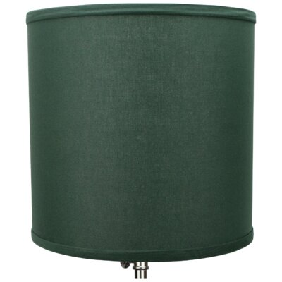 10.5 Linen Drum Lamp Shade Color: Hunter Green