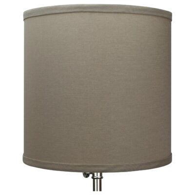 10.5 Linen Drum Lamp Shade Color: Stone