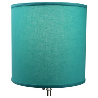 12 Linen Drum Lamp Shade Color: Capri
