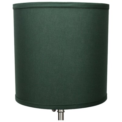 10 Linen Drum Lamp Shade Color: Hunter Green
