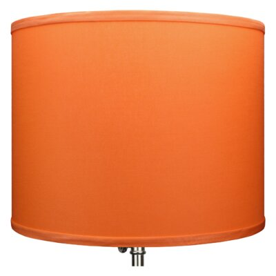 14 Linen Drum Lamp Shade Color: Carrot