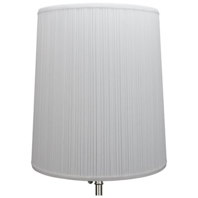15 Linen Drum Lamp Shade Color: White