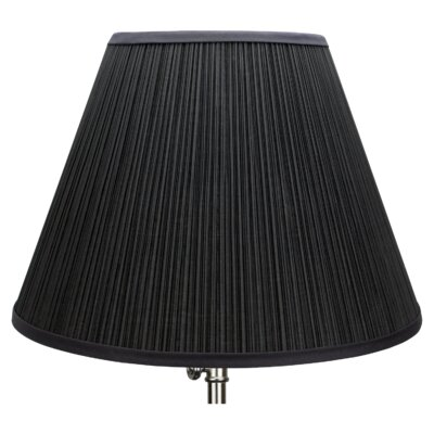 18 Empire Lamp Shade Color: Black