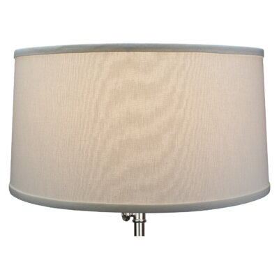 17 Linen Drum Lamp Shade Color: Off White
