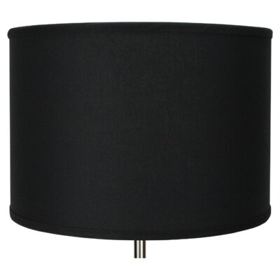 16 Linen Drum Lamp Shade Color: Black