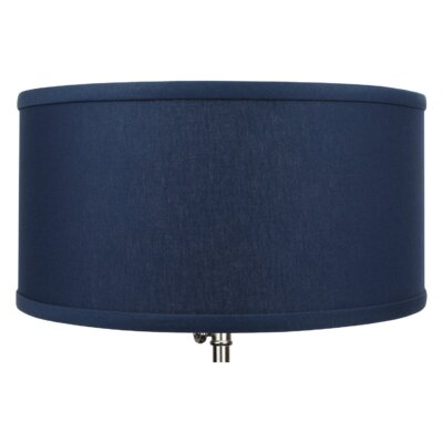 14 Linen Drum Lamp Shade Color: Navy