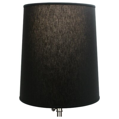 15 Linen Drum  Lamp Shade Color: Black