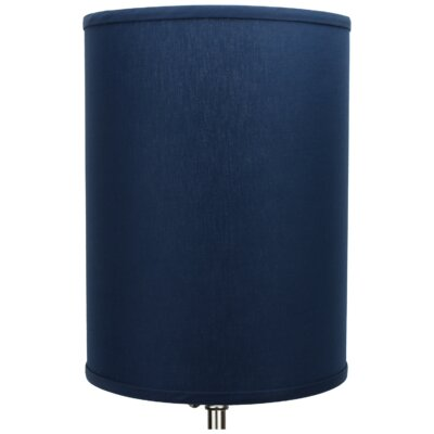 11 Linen Drum Lamp Shade Color: Navy
