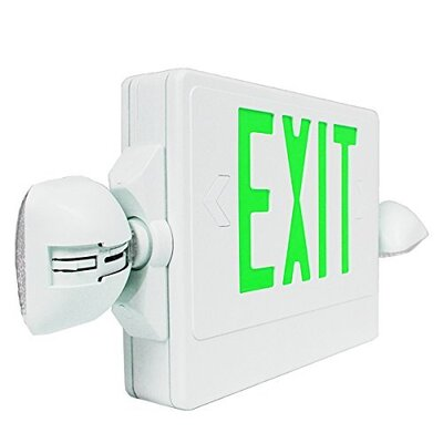 LED 24-Light Exit Light Finish: Green