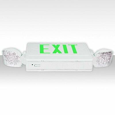 LED 24-Light Exit Light Finish: Green