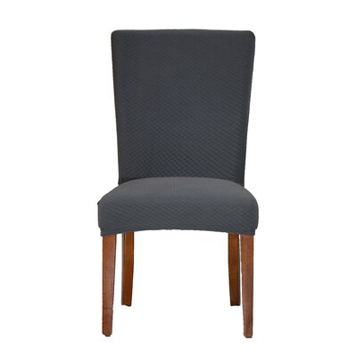 Vivian Stretch Polyester Dining Chair Slipcover Upholstery: Gray