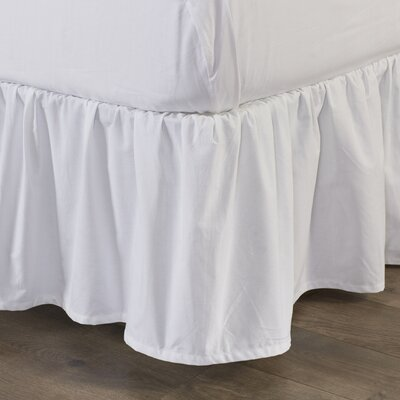 200 Thread Count Bed Skirt Size: King, Color: White