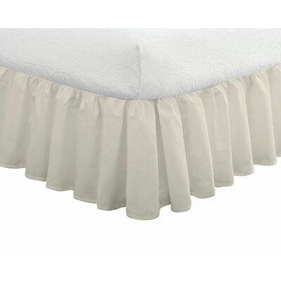 200 Thread Count Bed Skirt Size: Twin, Color: Ivory
