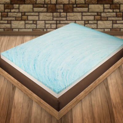 4 Gel Memory Foam Mattress Topper Size: King