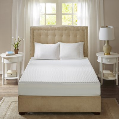 10 Gel Memory Foam Mattress Pad Size: Queen