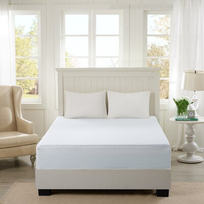 12 Gel Memory Foam Mattress Topper Size: Queen