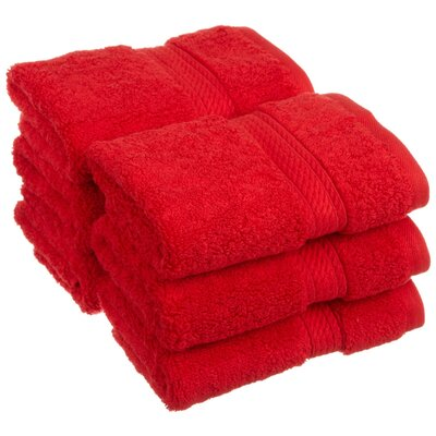 Hugo Washcloth Color: Red