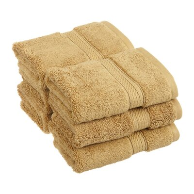 Superior Hugo 6 Pieces Washcloth Towel Set Color: Toast