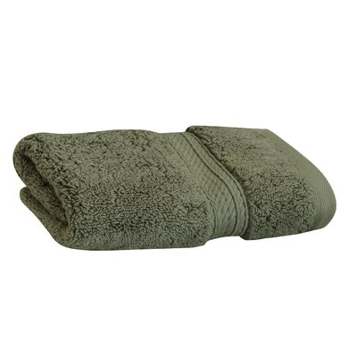 Superior Hugo 6 Pieces Washcloth Towel Set Color: Forest Green