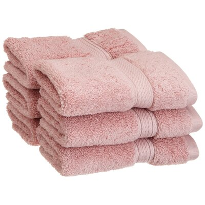 Superior Hugo 6 Pieces Washcloth Towel Set Color: Tea Rose