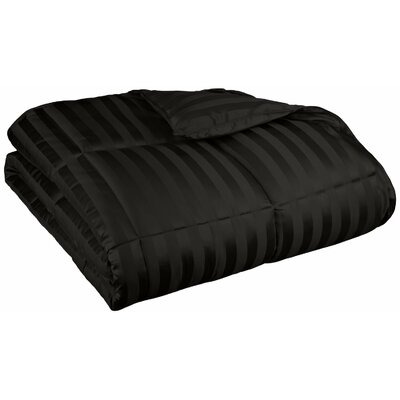 Midweight Down Alternative Comforter Color: Black, Size: Twin / Twin XL