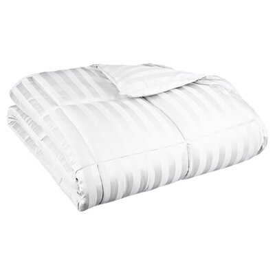 Down Alternative Comforter Stripe Size: Full/Queen, Color: White