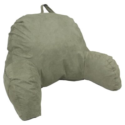 Microsuede Bed Rest Pillow Color: Green