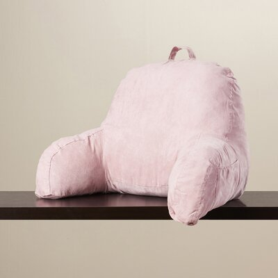Microsuede Bed Rest Pillow Color: Pink