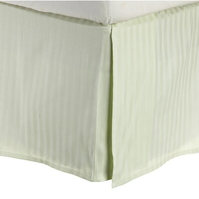300 Thread Count Quality Cotton Stripe Bed Skirt Color: Mint, Size: Twin