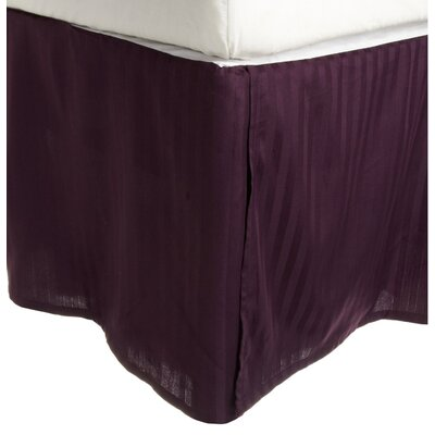300 Thread Count Quality Cotton Stripe Bed Skirt Color: Plum, Size: Twin