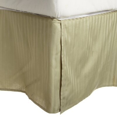 300 Thread Count Quality Cotton Stripe Bed Skirt Color: Sage, Size: Twin