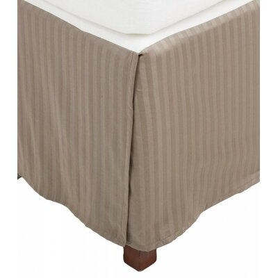 300 Thread Count Quality Cotton Stripe Bed Skirt Color: Taupe, Size: Queen