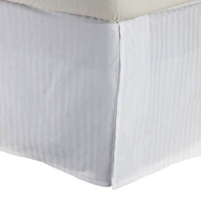 300 Thread Count Quality Cotton Stripe Bed Skirt Size: King, Color: White