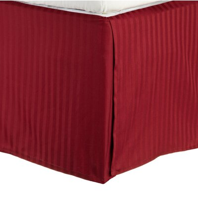 300 Thread Count Quality Cotton Stripe Bed Skirt Size: Queen, Color: Burgundy