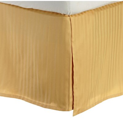 300 Thread Count Quality Cotton Stripe Bed Skirt Size: King, Color: Gold