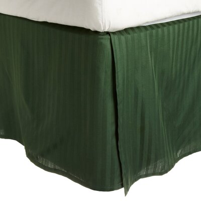 300 Thread Count Quality Cotton Stripe Bed Skirt Color: Hunter Green, Size: Queen