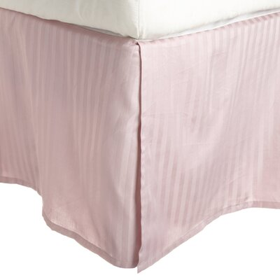300 Thread Count Quality Cotton Stripe Bed Skirt Size: Queen, Color: Lavender (Dust Rose)