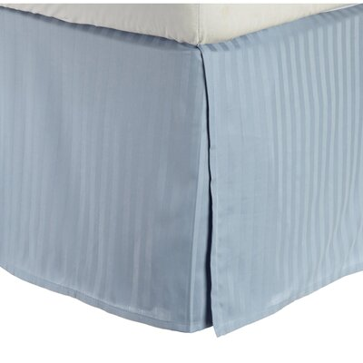 300 Thread Count Quality Cotton Stripe Bed Skirt Color: Light Blue, Size: Queen